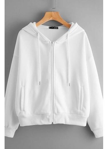 Madmext Mad Girls  Sweatshirt Mg784 Beyaz